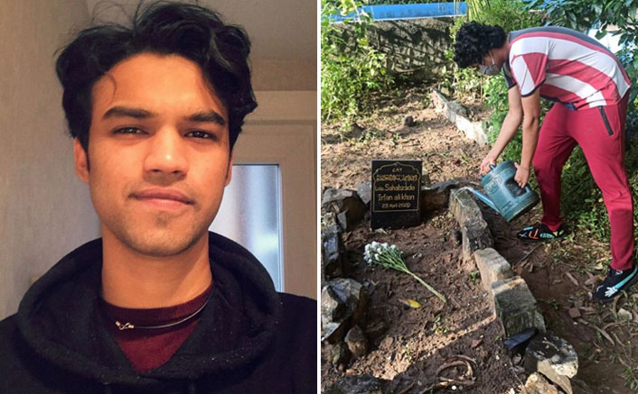 """Irrfan Khan's Son Babil Shares Pic Of Younger Brother Watering His Father's Grave, Says """"He Always Wished To Be Surrounded By The Grass"""""""