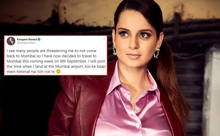 """Kangana Ranaut Is Returning To Mumbai: """"Kisi Ke Baap Mein Himmat Hai Toh Rok Le"""""""