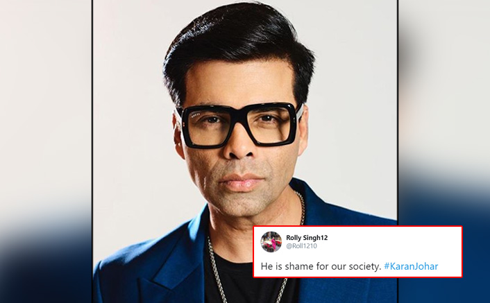 """Karan Johar Trends On Twitter For His Statement, Netizens Say """"He Is A Shame For Our Society"""""""