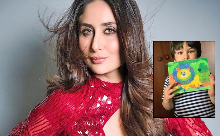 Kareena Kapoor Khan Flaunts Taimur's Painting, Calls Him 'King Of The Jungle' & 'Inhouse Picasso'!