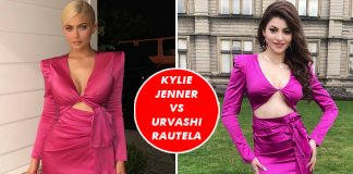 Kylie Jenner VS Urvashi Rautela Fashion Face-Off: The More Ravishing Diva In Pink Revealing Dress?