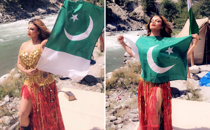 Rakhi Sawant BREAKS Silence On Her Viral Picture Of Hugging Pakistani Flag