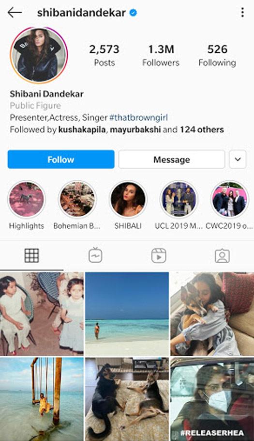 Shibani Dandekar Deleting #ReleaseRhea Posts From Her Instagram Is False, Check Out!