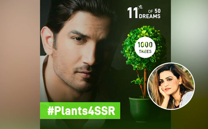 Shweta on #Plants4SSR: More than 1 lakh trees were planted across the globe