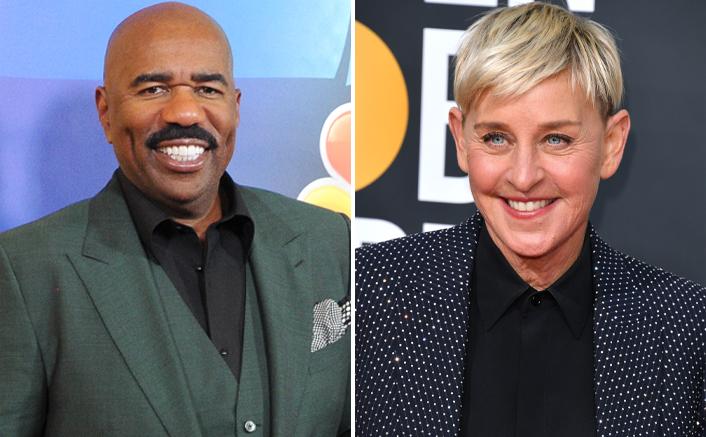"Steve Harvey Supports Ellen DeGeneres, Calls Her ""One Of The Coolest & Kindest People"""