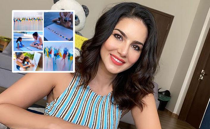 Sunny Leone Shares Video Of Kids Nisha, Noah & Asher Enjoying Painting Session
