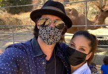 Sunny Leone's day out at an animal reserve with kids and hubby