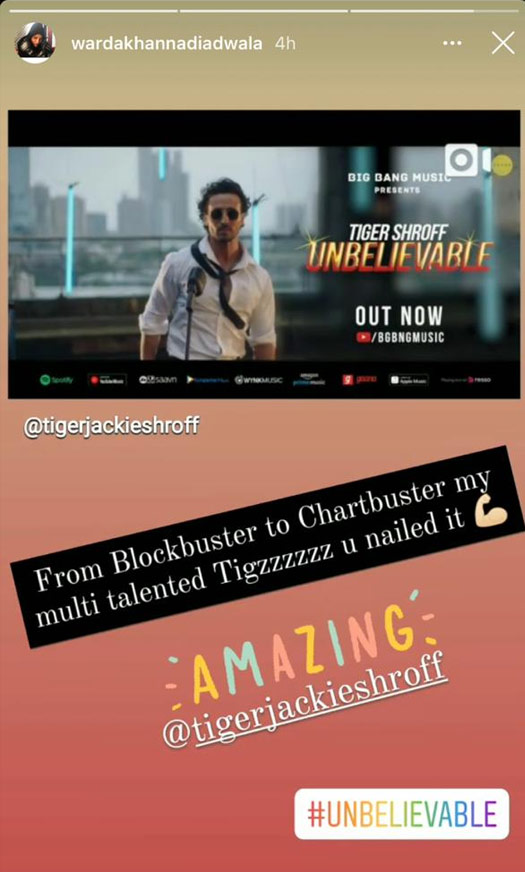 Tiger Shroff Gets Bundle Of Praises From Bollywood Stars For His Singing Debut