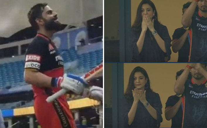 Anushka Sharma Blows Kisses At Virat Kohli, Twitter Thanks Her For The Victory!