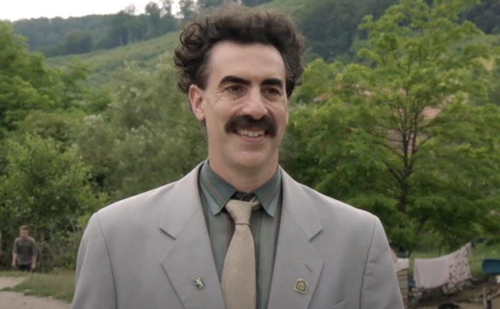 Borat Subsequent Moviefilm: Sacha Baron Cohen Uses His Chaotic COVID-19 Safety Protocols At Jimmy Kimmel Live!