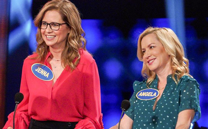 The Office's Ladies Jenna Fischer & Angela Kinsey Have A BLAST On Celebrity Family Feud