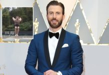 Chris Evans AKA Captain America Flaunts His Abs & Tattoos In This Video!