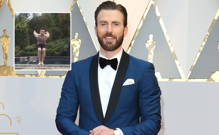 Chris Evans AKA Captain America Flaunts His Abs & Tattoos In This Video!(Pic credit: Getty Images)