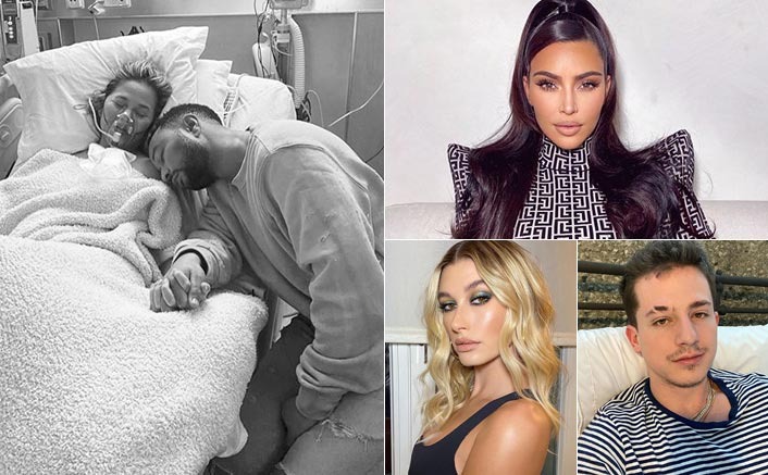 Chrissy Teigen Suffers Miscarriage, Kim Kardashian, Charlie Puth & Hailey Bieber Support & Send Love To Their Friend