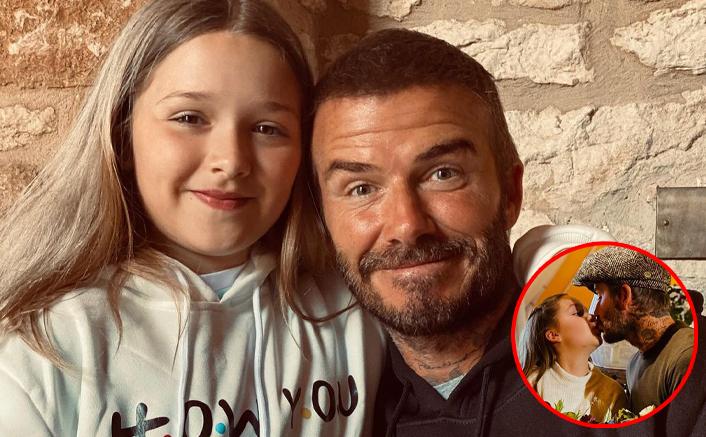 David Beckham Kisses Daughter Harper On The Lips, Supporters Ask Trolls To Be 'Progressive'