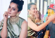 Kangana applies haldi to brother ahead of his wedding