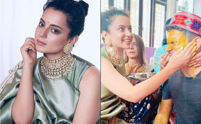 Kangana Ranaut's Happiness Knows No Bounds As She Celebrates Haldi Ceremony Before Brother's Wedding!