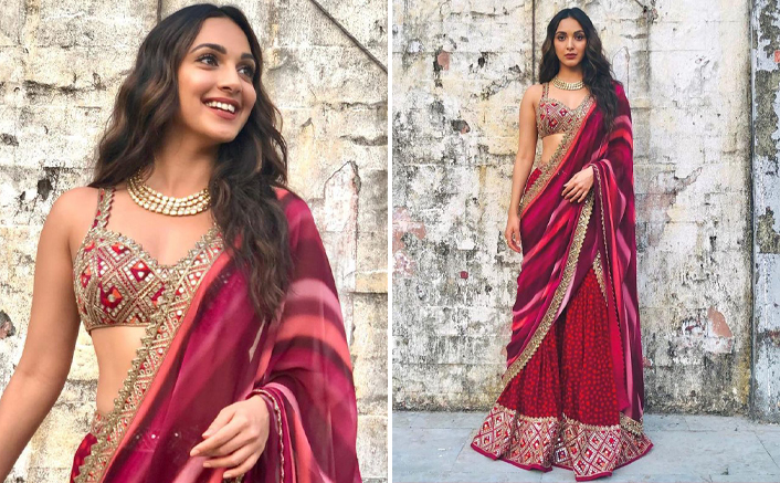 Kiara Advani's Latest Maroon Lehenga Is A Must Have For Diwali But It's Only Affordable For The SOBO Girls!