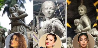 From Raveena Tandon To Sayani Gupta - B'Town In Awe Of Ma Durga's Statue As A Migrant Worker Made By Barisha Club