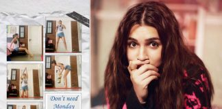 Kriti Sanon shares glimpses of quarantine workout
