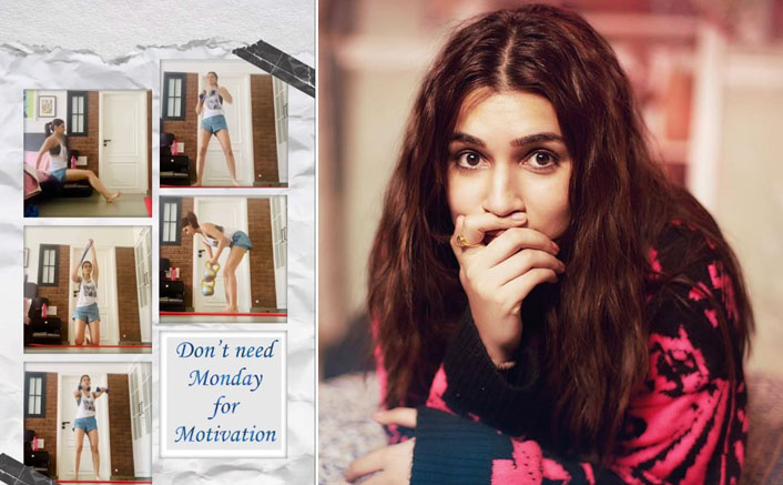 Kriti Sanon Latest Workout Post Is All About Not Giving A F*ck To Monday Motivation!