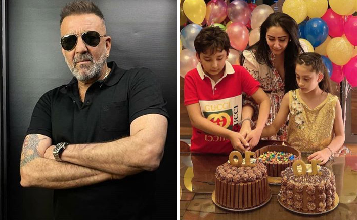 Sanjay Dutt & Maanayata Dutta's Twins Enjoy Another Birthday Bash In Dubai; Actor Joins Via Video Call