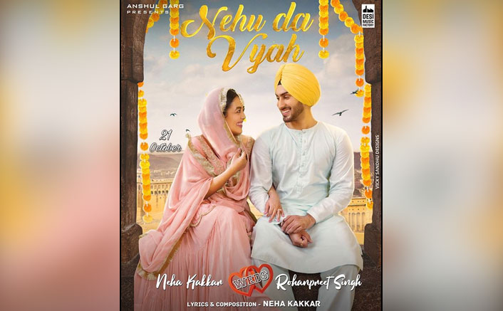 Neha Kakkar & Rohanpreet Singh Can't Take Their Eyes Off Each Other In The Poster Of Nehu Da Vyah