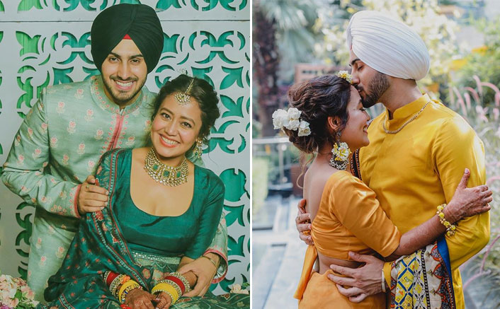 Neha Kakkar & Rohanpreet Singh's Pre-Wedding Ceremonies Pictures Are Proof That Their Match Is Made In Heaven!(Pic credit: Instagram/nehakakkar)