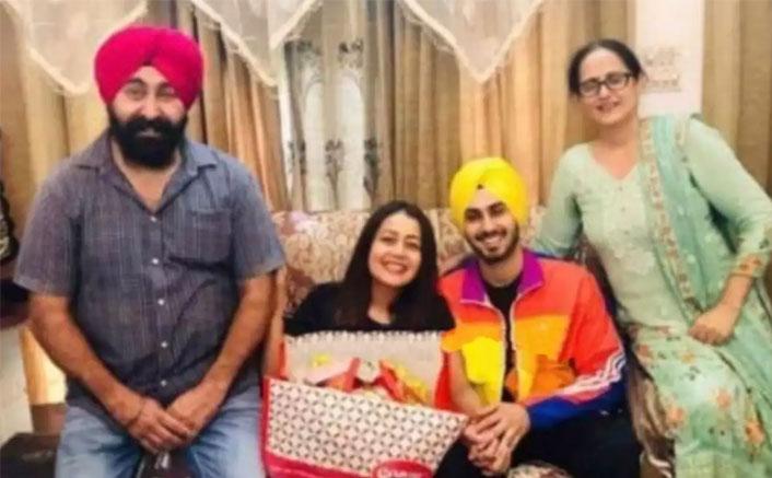 Neha Kakkar's Pic Holding Rohanpreet Singh's Hand In Their Alleged Roka Ceremony Goes Viral (Pic credit: Facebook/Neha Kakkar, Rohanpreet Singh)