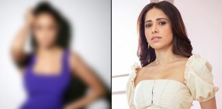 Nushrratt Bharuccha is 'Bringing the action' in this purple high slit dress