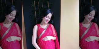 Pregnant Amrita Rao shares a video on Maha Ashtami, looks adorable in Saaree