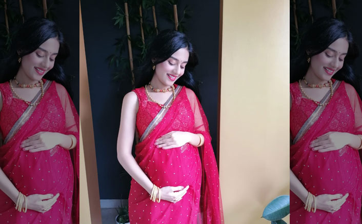 Amrita Rao Looks Like A True Goddess As She Radiates Pregnancy Glow In A Red Saree, See Pic