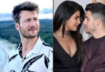 Priyanka Chopra Jonas & Nick Jonas Are Too Busy Kissing To Notice Glen Powell Mimicking Them