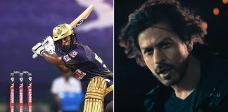"Shah Rukh Khan Made Fun Of Rahul Tripathi At KKR's Anthem Launch Says: ""You still have to score 158 runs"""