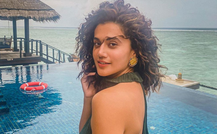 Taapsee back to work mode after Maldives break