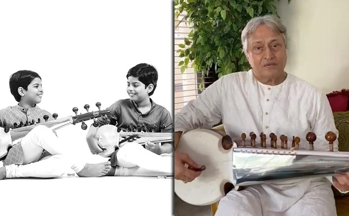 Ustad Amjad Ali Khan's Twin Grandsons Surprise Him On His 75th Birthday By Doing THIS!