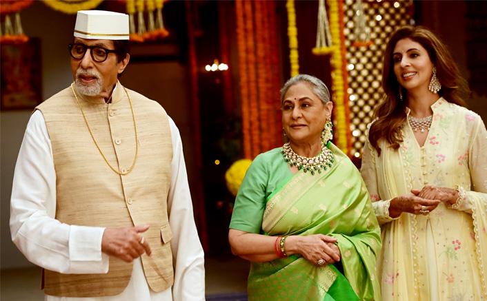 Amitabh Bachchan Shoots With Wife Jaya Bachchan & Daughter Shweta(Pic credit: Twitter/Amitabh Bachchan)