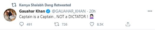 Bigg Boss 14: Gauahar Khan calls Eijaz Khan a dictator
