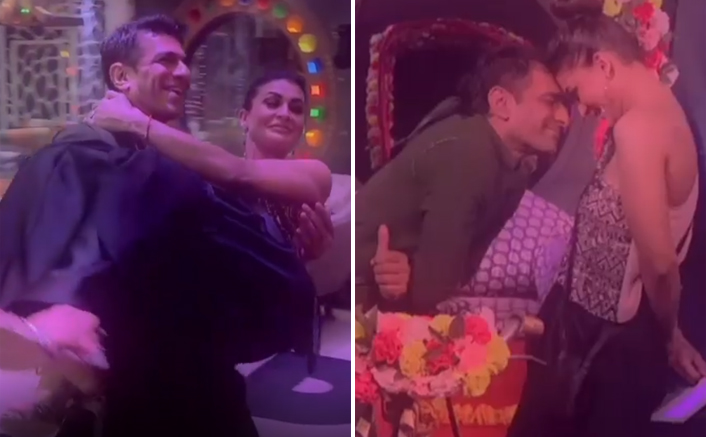 Bigg Boss 14:  Pavitra Punia Kisses Eijaz Khan On Forehead As They 'Discuss' Love; Is A New Couple Already In The Making?
