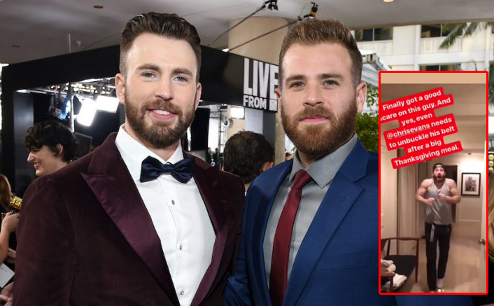 Chris Evans Was Scared By Brother Scott Evans Thanksgiving Prank