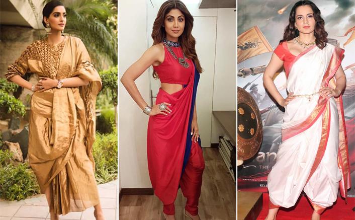 Diwali 2020: Take Inspiration From Sonam Kapoor, Shilpa Shetty & Kangana Ranaut To Slay In This Dhoti Styled Saree