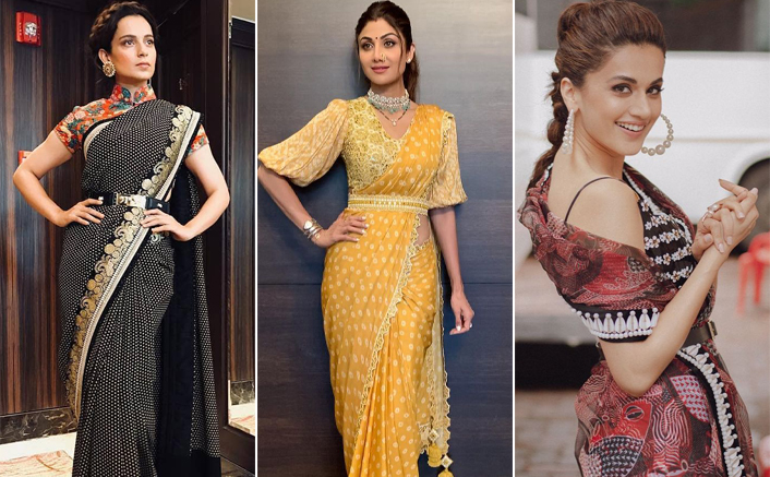 Diwali 2020: Kangana Ranaut, Shilpa Shetty & Taapsee Pannu Style Their Sarees With A Belt & We Are Loving It!