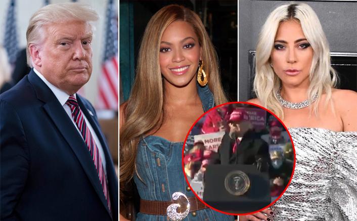 Donald Trump Makes Fun Of Lady Gaga, Beyoncé & Others Supporting Joe Biden In His MAGA Rally
