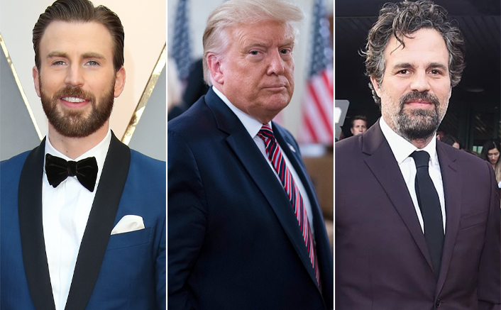 Chris Evans, Mark Ruffalo, and several Hollywood celebs are not pleased with Donald Trump's speech.