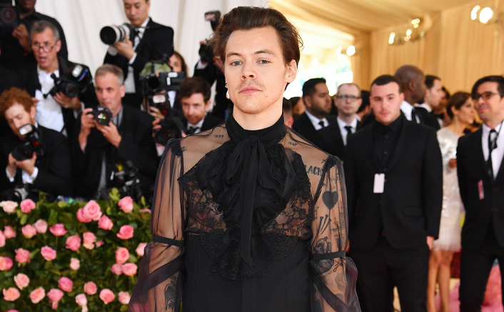 Harry Styles Dons A Gucci Lace Gown As He Features Solo On The Cover Of Vogue