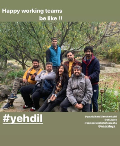Harshita Gaur shoots in Manali for a Music Video