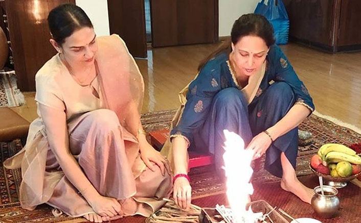 Hema Malini Conducts Havan On Esha Deol's Birthday For Positivity