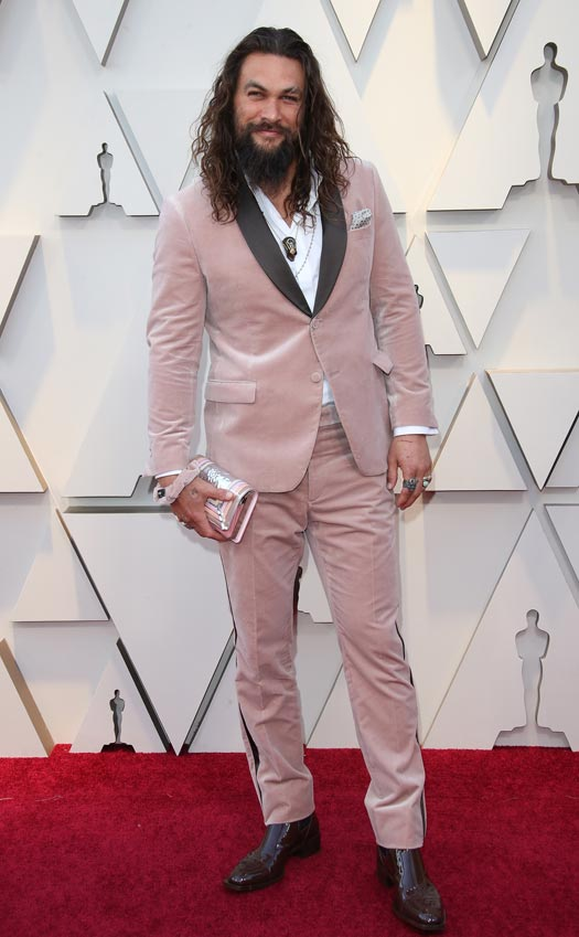Jason Momoa Reacts To Wearing Pink Clothes Often