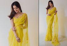 Kajal Aggarwal's Yellow Manish Malhotra Saree Is Perfect For This Diwali - Chic Yet Elegant!