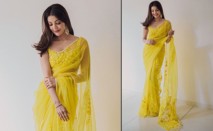 Diwali 2020: Kajal Aggarwal's Yellow Manish Malhotra Saree Is Perfect For This Festive Season - Chic Yet Elegant!